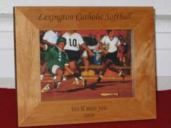Sports Picture Frame - Personalized Frame - Laser Engraved Text