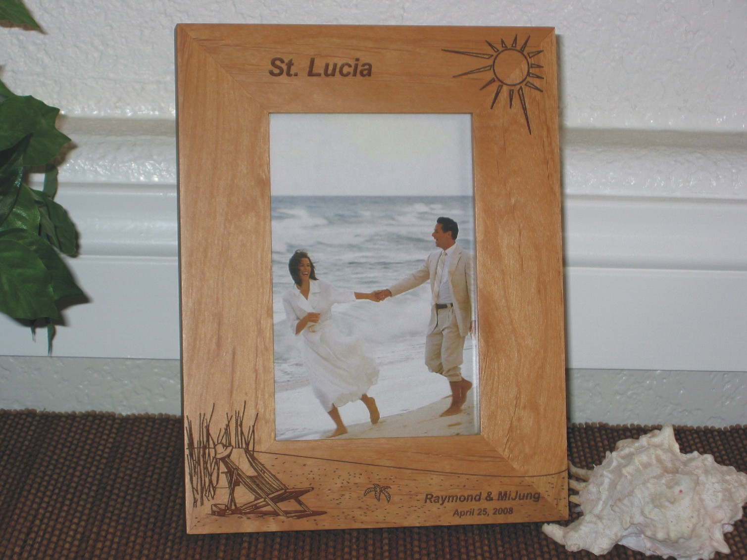 St Lucia Picture Frame Personalized Frame Laser