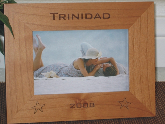 Star Fish Picture Frame - Personalized Beach Frame - Laser Engraved Star Fish
