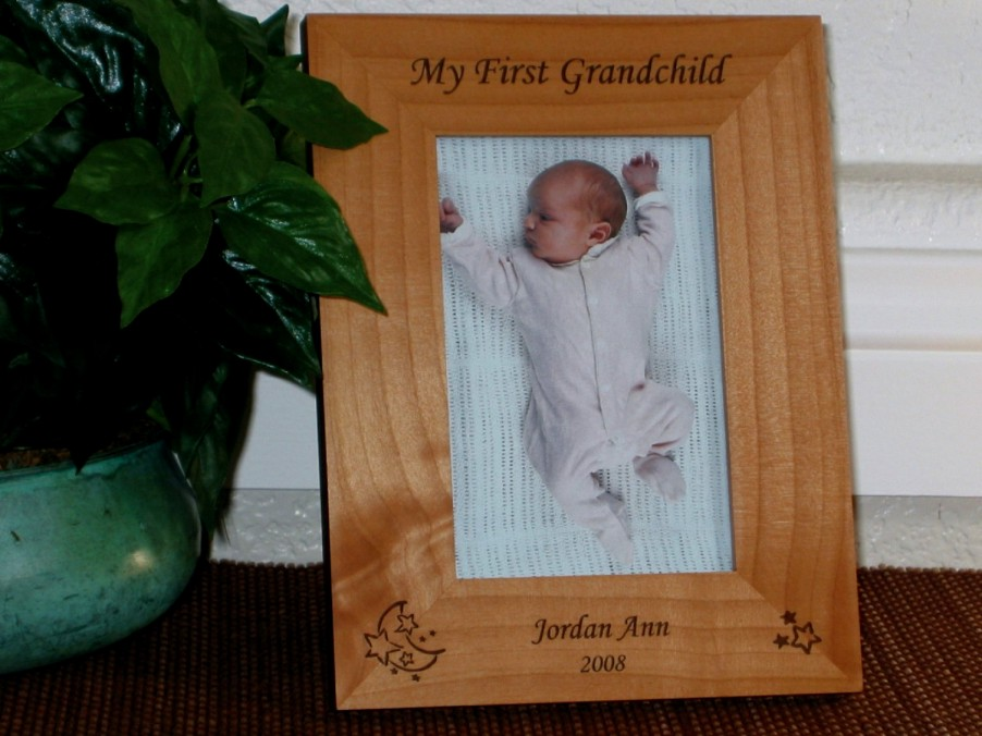 star moon picture frame personalized baby frame laser engraved