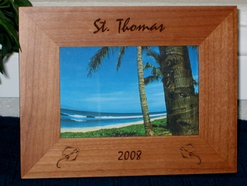 Sting Ray Picture Frame - Personalized Frame - Laser Engraved Sting Rays