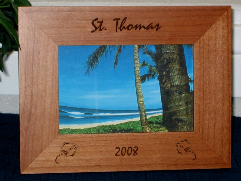 Sting Ray Picture Frame Personalized Frame Laser