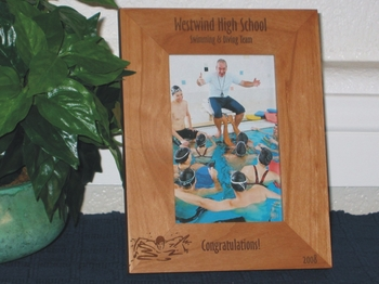 Swimming Picture Frame - Personalized Frame - Laser Engraved Swimmer