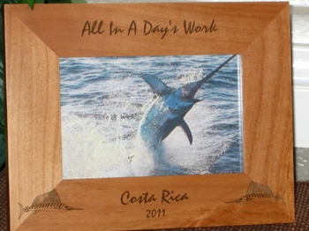 Swordfish Picture Frame - Personalized Frame - Laser Engraved Swordfish