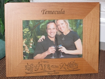 Temecula Picture Frame - Personalized Frame - Laser Engraved Wine Theme