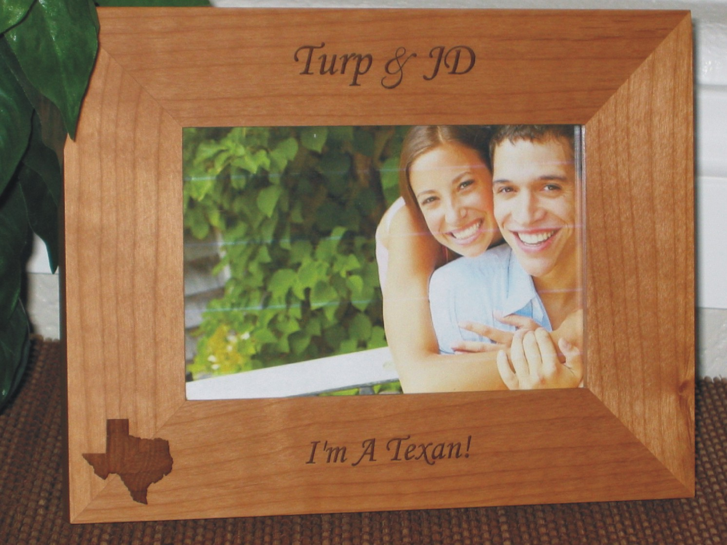 Texas Picture Frame - Personalized Souvenir Frame - Laser Engraved ...