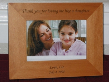 Thank You Picture Frame - Personalized Frame - Laser Engraved Text