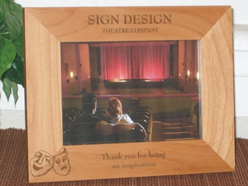 Theatre Picture Frame - Personalized Frame - Laser Engraved Theatre Masks