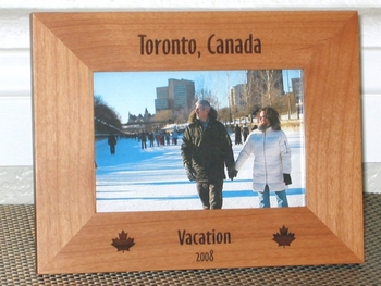 Toronto Picture Frame - Personalized Frame - Laser Engraved Candian Leafs
