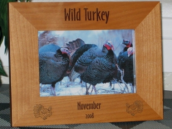 Turkey Hunting Picture Frame - Personalized Frame - Laser Engraved Turkey