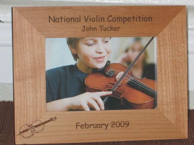 Violin Picture Frame - Personalized Frame - Laser Engraved Violin