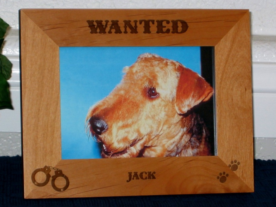 Wanted Dog Picture Frame - Personalized Frame - Laser Engraved ...