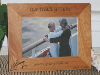 Wedding Cruise Picture Frame - Personalized Frame - Laser Engraved Wedding Cruise Gift