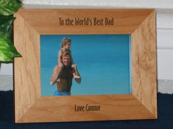 World's Best Picture Frame - Personalized Frame - Laser Engraved Text