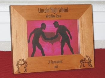 Wrestling Picture Frame - Personalized Frame - Laser Engraved Wrestlers