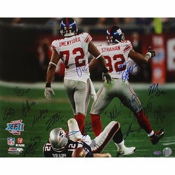 2007 Giants Defense Team<br> Signed Umenyiora and Strahan