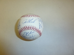 2010 NY Yankees Team Signed Baseball