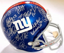2011 NY Giants SB Champs<br> Team Signed Helmet