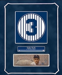 Babe Ruth Retired Number<br> with Original Painting