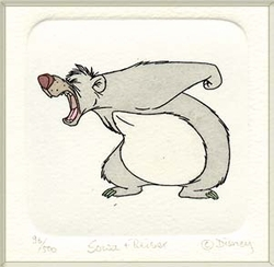 Baloo Small<br> Color Etching
