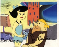Barney & Betty Original Prod. Cel signed - Flintstones