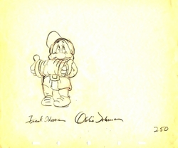 "Bashful  from ""Snow White""(1937)<br> Signed Prod Drawing #250"