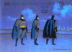 Batman 3 poses model cel