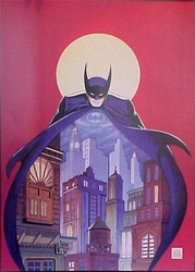 Batman Night Vigil Over Gotham Signed Bob Kane