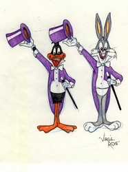 Bugs and Daffy Original Drawing