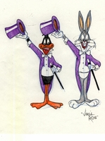 Bugs and Daffy Original Drawing  - Warner Bros. By Virgil Ross