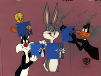Bugs Bunny, Daffy Duck, Sylvester & Tweety - Production Cels