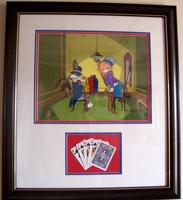 "Bugs Bunny & Elmer Fudd ""All In"" - SOLD OUT - Bugs Bunny Art"