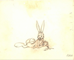 Bugs Bunny Original Drawing (1943)