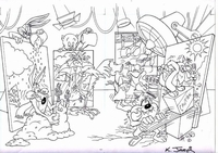 Bugs, Daffy, Porky, Wile, Road Runner, Taz & Sylvester - Production Drawings