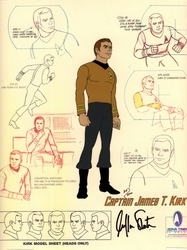 Capt. Kirk Signed<br> Model Cel