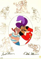 Captain Hook & Mr. Smee from Peter Pan  Signed