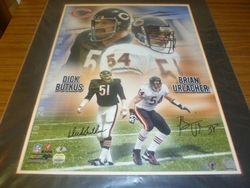 Chicago Bears Dick Butkus & Brian Urlacher <br> Dual Signed 16x20 Photo