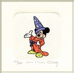 Color Etching of Mickey<br> Mouse as Sorcerer.
