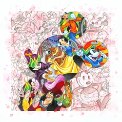 Colorful Characters Giclee on Canvas Framed by Tim Rogerson
