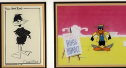 Daffy Duck Cel and Lobby Card