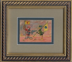 "Daffy & Marvin ""Ready, AIM, Fire!"" Mini Giclee Framed"