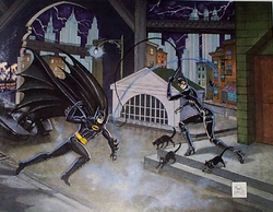 Dangerous Game of Cat & Bat Batman & Catwoman by Bob Kane