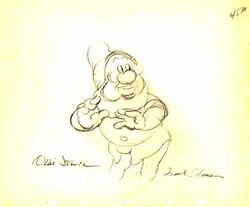 "Doc  from ""Snow White""(1937)<br> Signed Prod Drawing #45A"