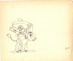 "Donald Duck and Donkey<BR> ""Don Donkey"" 1937"