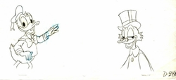 Donald & Scrooge Drawing #D-24