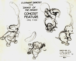 Elephant Dancers Model Sheet#165-A