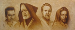 Evolution of Obi-Wan Canvas