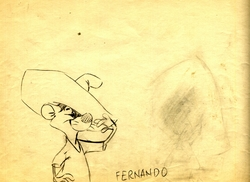 Fernando Original Pencil Drawing