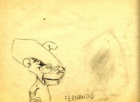 Fernando Original Pencil Drawing - Production Drawings
