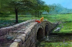 Fishing with Friends from<br>Winnie The Pooh Canvas